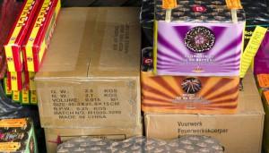 illegaal vuurwerk 2015 woensdrecht op A4 thv Boerenbond
